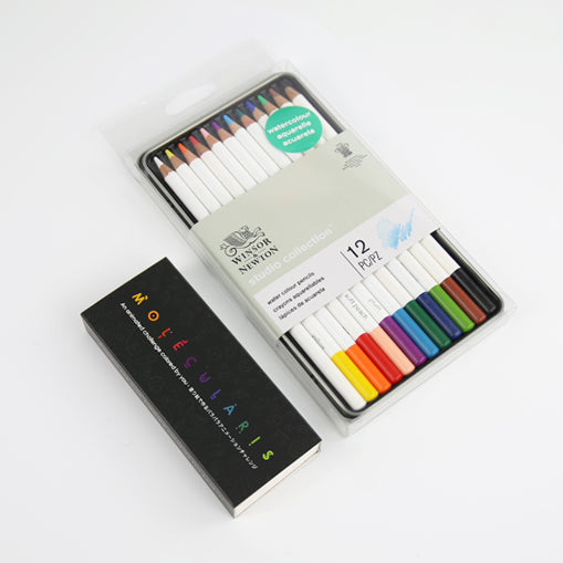 THE COLORING BUNDLE – Includes our interactive Coloring Flipbook Molecularis and a 12 Watercolour Pencil Set by Winsor & Newton. Smart gift for creative minds of all ages.