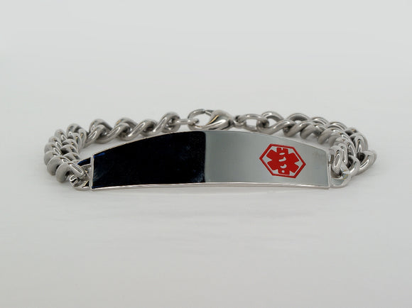 Sterling Silver Medical Alert Bracelet Available at The Vault Fine Jewellery