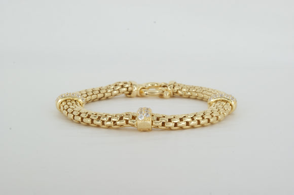 Gold Plated Cubic Zirconia Bracelet Miss Mimi Available at The Vault Fine Jewellery