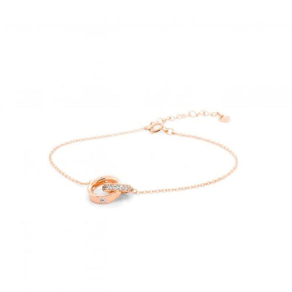 Sterling Silver Rose Gold Cubic Zirconia Bracelet Available at The Vault Fine Jewellery