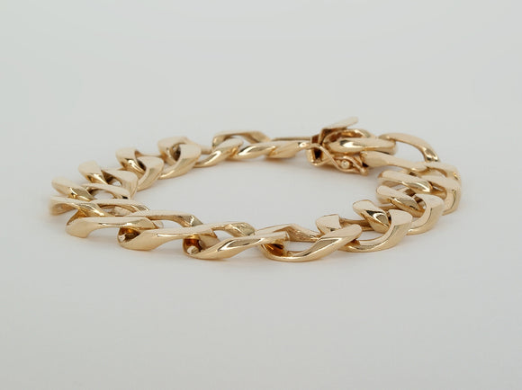 Yellow Gold Bracelet  Available at The Vault Fine Jewellery