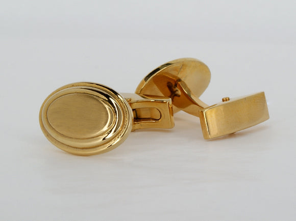 Stainless Steel Gold Plated Cufflinks Available at The Vault Fine Jewellery