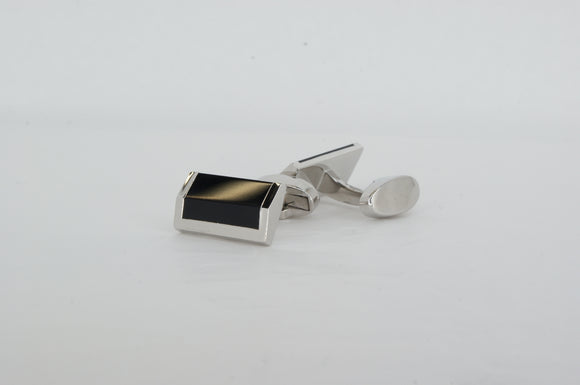Brass Rhodium Plated Cufflinks Available at The Vault Fine Jewellery