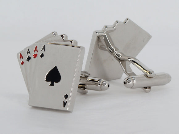 Cufflinks Poker Available at The Vault Fine Jewellery