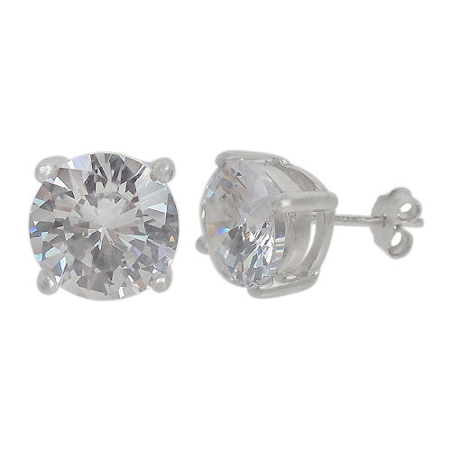 14K White Gold 1.02CT Diamond Stud Earrings