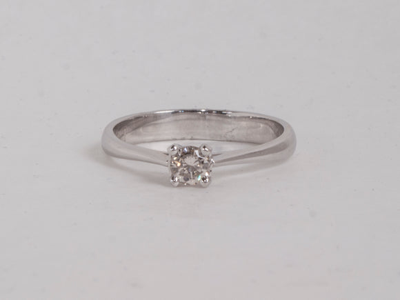 14K White Gold 0.24CT Diamond Solitaire Ring