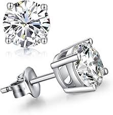 14K White Gold 0.40CT Diamond Stud Earrings