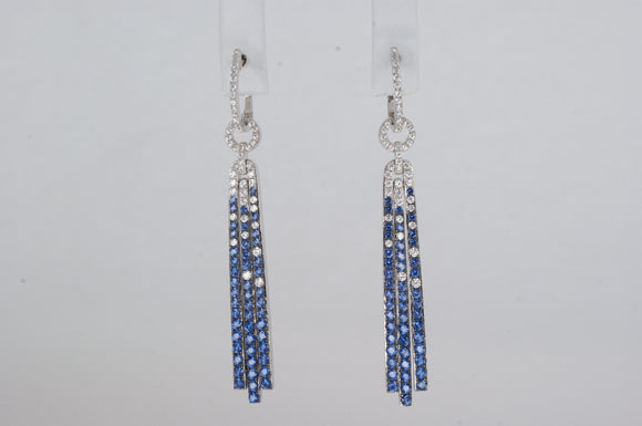 Glamour  Sapphire Earrings  Miss Mimi Available at The Vault Fine Jewellery