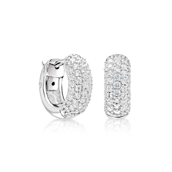 Sterling Silver Cubic Zirconia Earrings Miss Mimi Available at The Vault Fine Jewellery