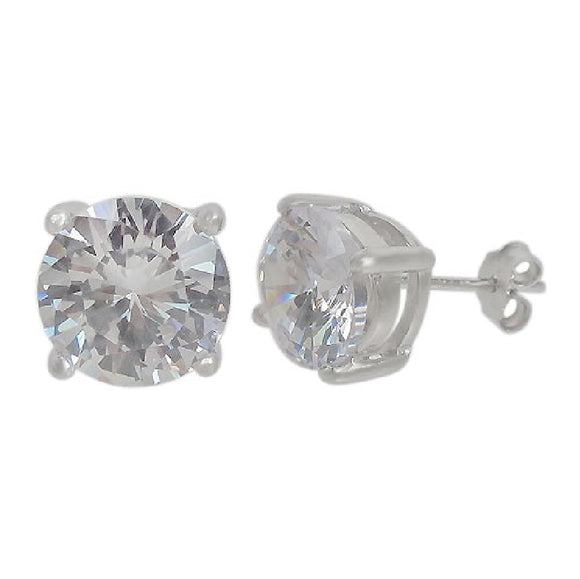 14k White Gold Moissanite Earrings Available at The Vault Fine Jewellery