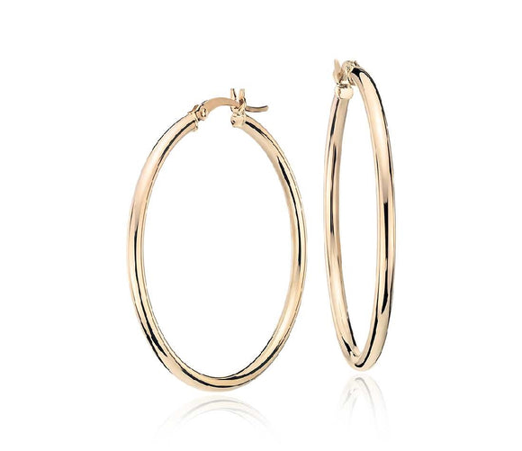 10k Yellow Gold Hoop Earrings  Available at The Vault Fine Jewellery