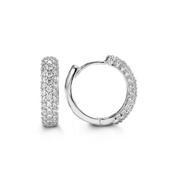 10k White Gold Cubic Zirconia Earrings Available at The Vault Fine Jewellery