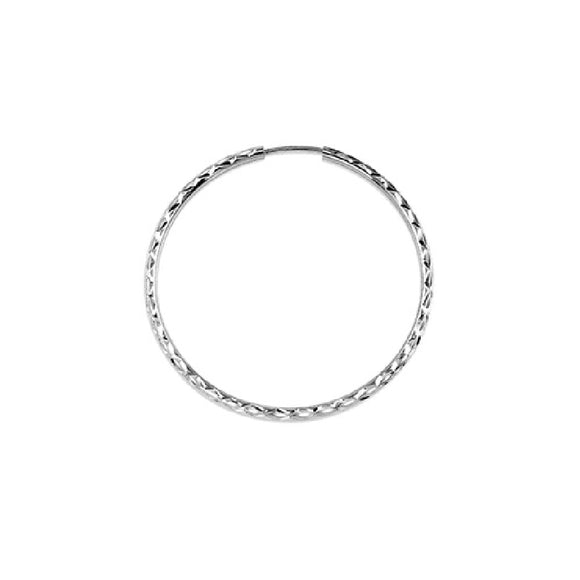 10k White Gold Hoop Earrings Available at The Vault Fine Jewellery