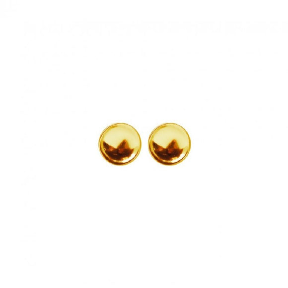 Sterling Silver Gold Plated Earrings Stud Availabel at The Vault Fine Jewellery