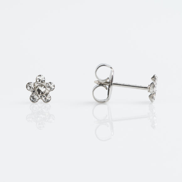 14k White Gold Studex Earrings Availabel at The Vault Fine Jewellery