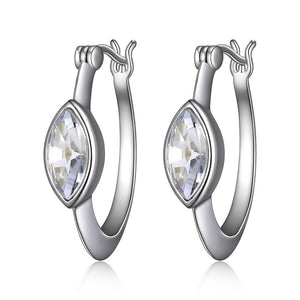 Sterling Silver Expression Collection Hoop Earrings by Elle
