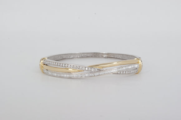 Yellow & White Gold Bracelet Estate & Vintage Availabel at The Vault Fine Jewellery