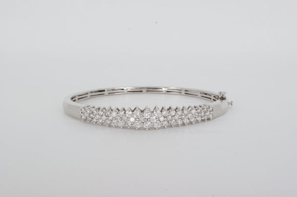 14k White Gold Bracelet Bangle Estate & Vintage Availabel at The Vault Fine Jewellery