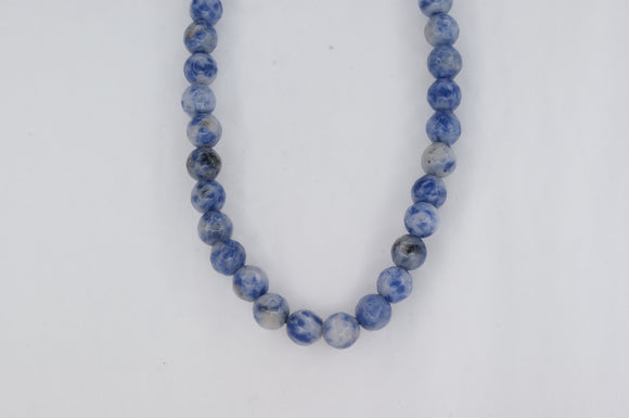 Blue Jasper Beads Necklace Availabel at The Vault Fine Jewellery