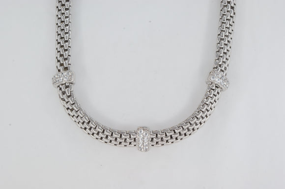 Mesh Cubic Zirconia Necklace Miss Mimi Availabel at The Vault Fine Jewellery