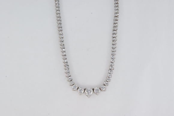 Sterling Silver Cubic Zirconia Necklace Miss Mimi Availabel at The Vault Fine Jewellery