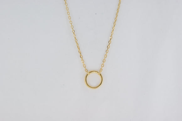 Sterling Silver Yellow Gold Plated Cubic Zirconia Necklace Availabel at The Vault Fine Jewellery