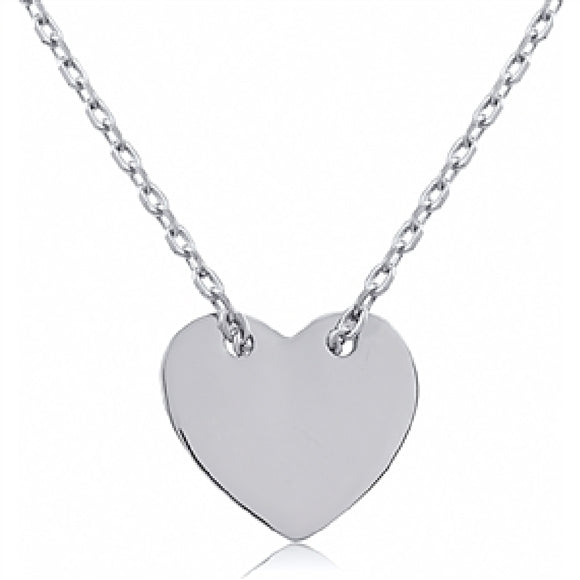 Sterling Silver Heart Pendant Necklace Availabel at The Vault Fine Jewellery