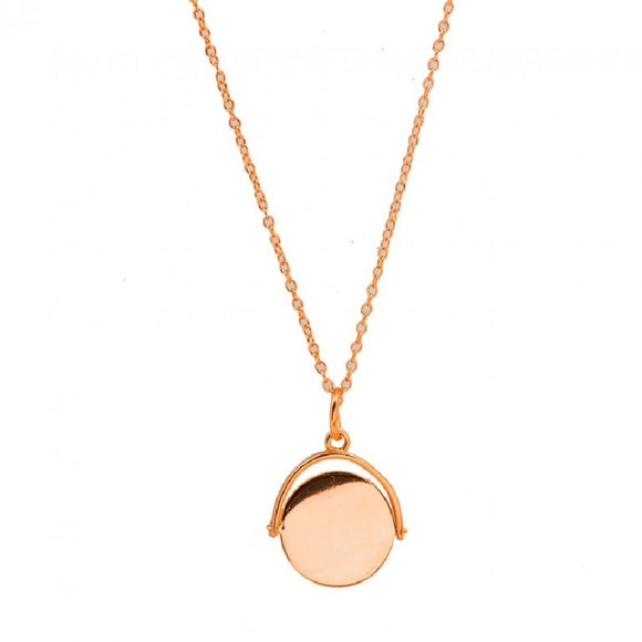 Sterling Silver Rose Gold Necklace Availabel at The Vault Fine Jewellery