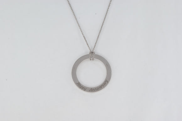 White Gold Anniversary Necklace Availabel at The Vault Fine Jewellery