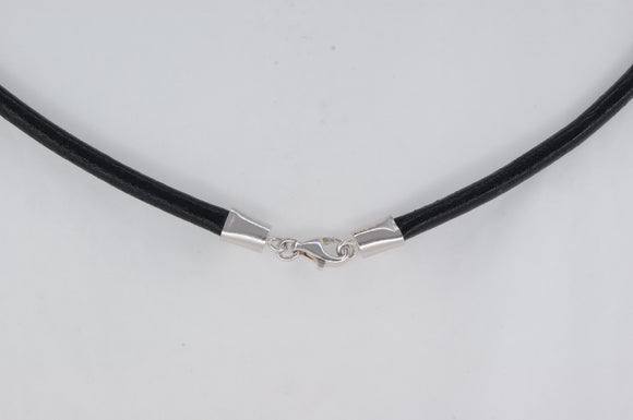 Leather Sterling Silver Claps Necklace Availabel at The Vault Fine Jewellery