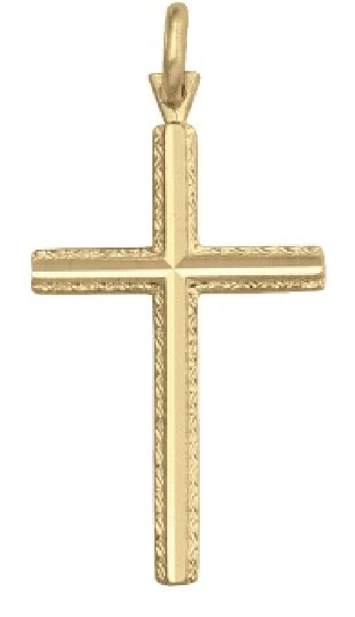 10k Yellow  Gold Pendant Crucifix Cross Availabel at The Vault Fine Jewellery