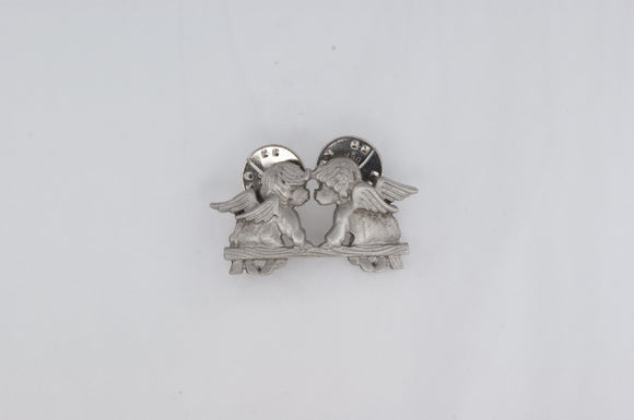 Chelsea Pewter Angels Pin Tie Clip Availabel at The Vault Fine Jewellery
