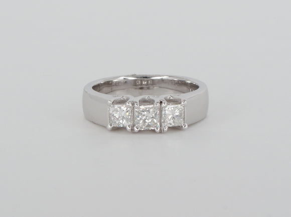 Princess Trinity 14k White Gold Diamond Ring Availabel at The Vault Fine Jewellery