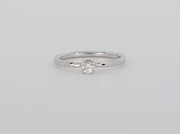 Custom 10k White Gold Diamond Ring Availabel at The Vault Fine Jewellery