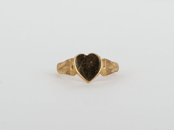 10k Yellow Gold Heart Ring Availabel at The Vault Fine Jewellery
