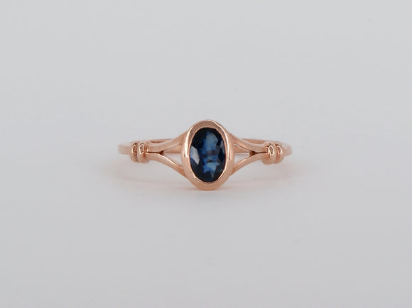10k Rose Gold Sapphire Ring Availabel at The Vault Fine Jewellery
