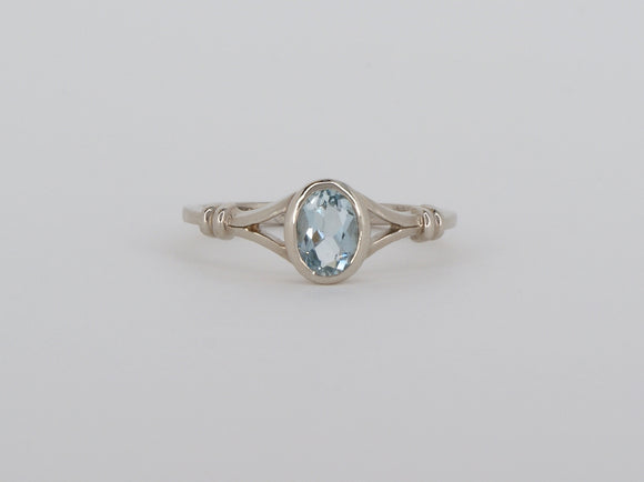10k White Gold Aquamarine Stuller Ring Availabel at The Vault Fine Jewellery