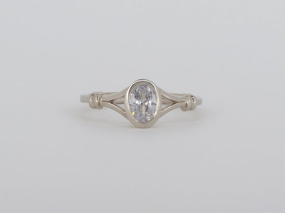 10k White Gold Cubic Zirconia Stuller Ring Availabel at The Vault Fine Jewellery