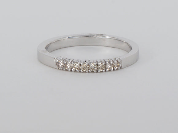 14k White Gold 8 Diamonds Diamond Ring Availabel at The Vault Fine Jewellery