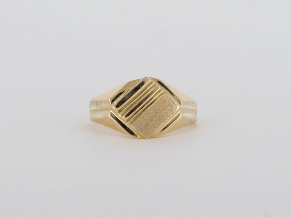 10k Yellow Gold Signet Ring Availabel at The Vault Fine Jewellery