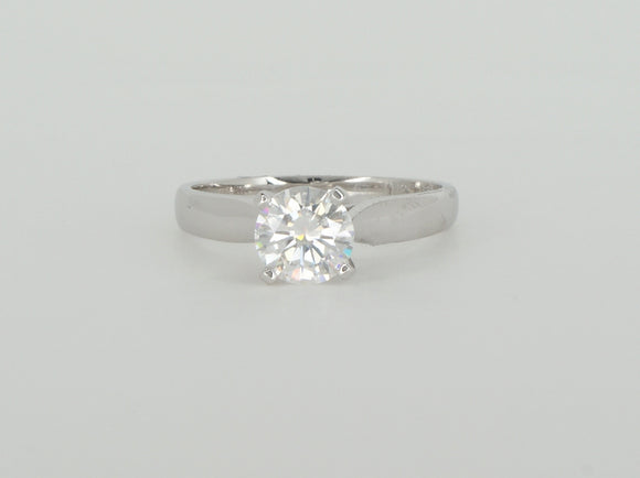 White Gold Moissanite Ring Availabel at The Vault Fine Jewellery