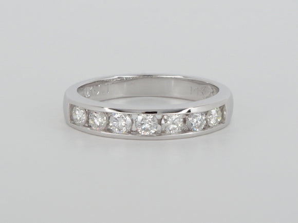 14k White Gold 7 Diamond  Ring Availabel at The Vault Fine Jewellery