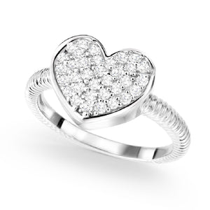 Heart Cubic Zirconia Miss Mimi Ring Availabel at The Vault Fine Jewellery
