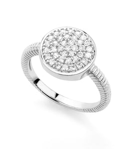 Circle Ring Cubic Zirconia Miss Mimi Ring Availabel at The Vault Fine Jewellery