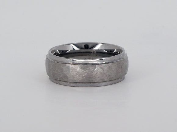 Tungsten Hammered Ring Availabel at The Vault Fine Jewellery