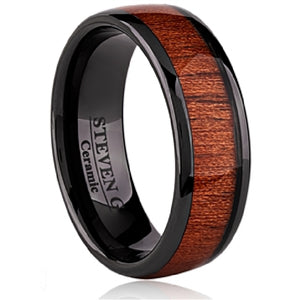 10k Ceramic Wood Inlay Supreme Ring Availabel at The Vault Fine Jewellery