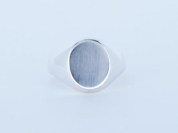 Sterling Silver Oval Signet Ring Availabel at The Vault Fine Jewellery