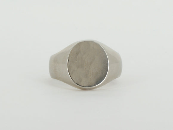 10k White Gold Signet Ring Availabel at The Vault Fine Jewellery