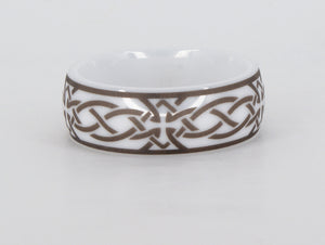 Ceramic Celtic Ring Availabel at The Vault Fine Jewellery