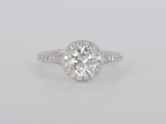 18k White Gold Semi Mount Diamond Ring Availabel at The Vault Fine Jewellery